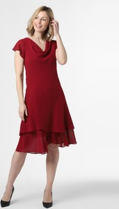 Czerwona sukienka Ambiance z krótkim rękawem