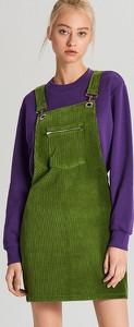 Zielona spódnica Cropp ze sztruksu