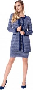 Granatowy sweter POTIS & VERSO w stylu casual z zamszu