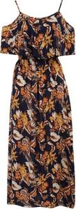 Sukienka Multu maxi z dekoltem w kształcie litery v