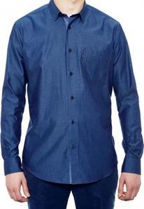 Niebieska koszula Roy z długim rękawem