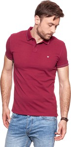 Bordowa koszulka polo Wrangler