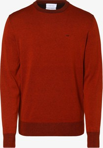 Czerwony sweter Calvin Klein z jedwabiu