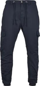 Granatowe spodnie Emp z bawełny