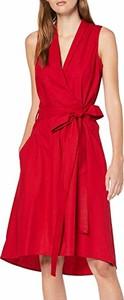Sukienka amazon.de bez rękawów w stylu casual kopertowa