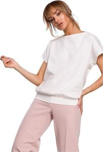 Bluzka MOE z okrągłym dekoltem z krótkim rękawem