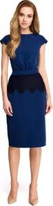 Sukienka Stylove z okrągłym dekoltem z krótkim rękawem ołówkowa