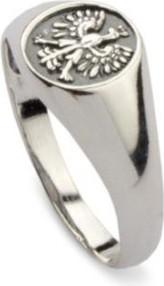 Polcarat Design Pierścionek srebrny sygnet Orzeł PB 359