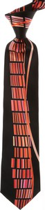 Czarny krawat Pancaldi
