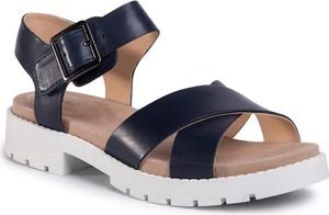 Granatowe sandały Clarks w stylu casual