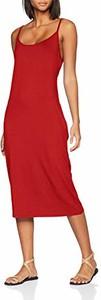 Sukienka amazon.de z okrągłym dekoltem midi z długim rękawem