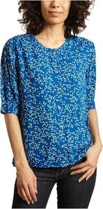 Niebieska bluzka Leon & Harper z dekoltem w kształcie litery v