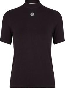 Czarna bluzka Chosen Skin z krótkim rękawem