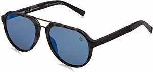 amazon.de Timberland TB9142 męskie okulary przeciwsłoneczne, kolor brązowy (Coloured Havana/Smoke Polarized) 56