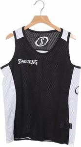 Czarny t-shirt Spalding z krótkim rękawem z bawełny