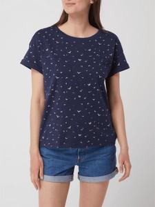 Granatowy t-shirt Esprit