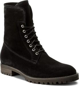 Czarne buty zimowe gino rossi ze skóry