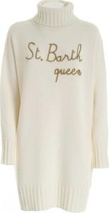 Sukienka Mc2 Saint Barth z długim rękawem mini z wełny