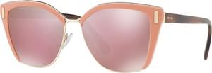Różowe okulary damskie Prada