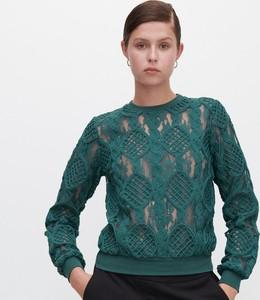Turkusowa bluzka Reserved z długim rękawem