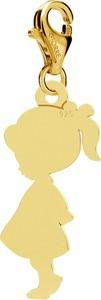 GIORRE SREBRNY CHARMS DZIEWCZYNKA GRAWER, SREBRO 925 : Kolor pokrycia srebra - Pokrycie Żółtym 24K Złotem