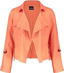 Pomarańczowa kurtka Taifun w stylu casual z lnu
