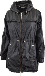 Czarna kurtka Liu-Jo długa w stylu casual