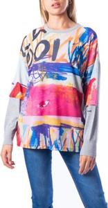 Bluza Desigual w stylu casual z kaszmiru