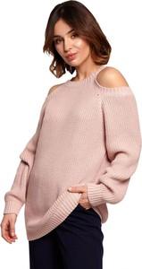 Różowy sweter Be Knit