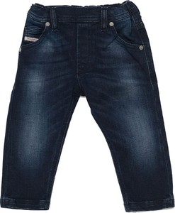 Niebieskie spodnie dziecięce Diesel