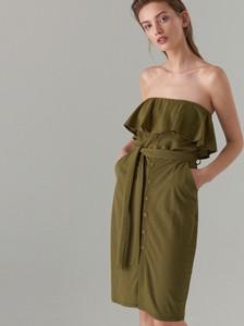 Zielona sukienka Mohito midi w stylu casual