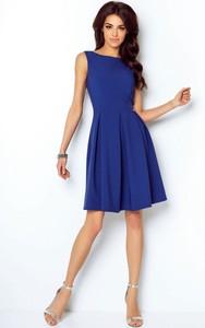 Niebieska sukienka Ivon bez rękawów