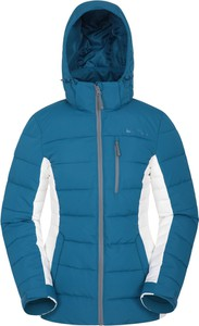 Niebieska kurtka Mountain Warehouse krótka z tkaniny
