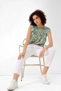 Bluzka ORSAY z krótkim rękawem z okrągłym dekoltem z tkaniny