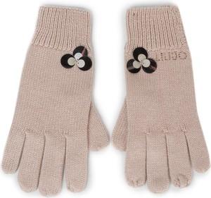 Różowe rękawiczki Liu-Jo