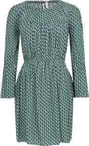Zielona sukienka Pepe Jeans z długim rękawem z okrągłym dekoltem