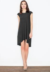 Sukienka Figl asymetryczna z krótkim rękawem
