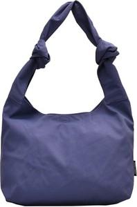 Niebieska torebka Cikelly w stylu casual matowa na ramię