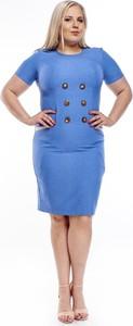 Sukienka Fokus z jeansu z krótkim rękawem