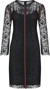 Sukienka Pinko midi z długim rękawem z okrągłym dekoltem