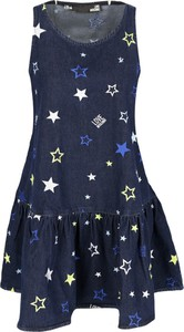 Granatowa sukienka Love Moschino bez rękawów w stylu casual