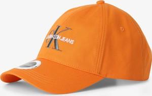 Pomarańczowa czapka Calvin Klein