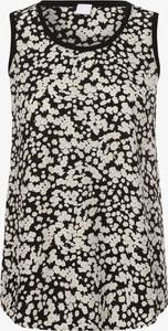 Bluzka Hugo Boss w stylu casual bez rękawów z okrągłym dekoltem