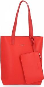 Czerwona torebka David Jones w stylu glamour