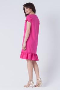 Różowa sukienka butik-choice.pl z bawełny
