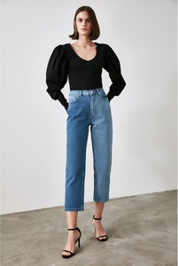 Niebieskie jeansy Trendyol w stylu casual