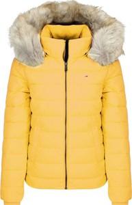 Żółta kurtka Tommy Jeans w stylu casual krótka