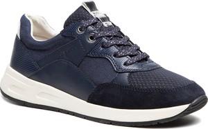 Buty sportowe Geox sznurowane z płaską podeszwą