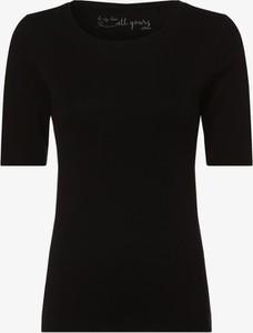 Czarny t-shirt S.Oliver z krótkim rękawem z okrągłym dekoltem w stylu casual