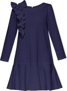 Sukienka Yuliya Babich z okrągłym dekoltem mini z długim rękawem